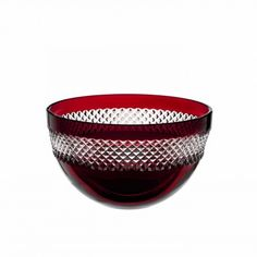 John Rocha Red Cut Bowl 20.5cm