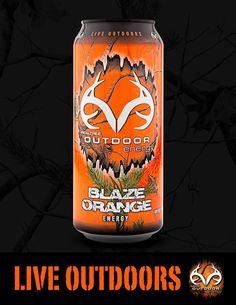 Dude now we can drink camo...#NEW look Realtree Outdoor #EnergyDrink Orange Blaze - #realtreelife