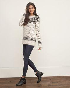Womens Fair Isle Shine Sweater | Womens Tops | Abercrombie.com