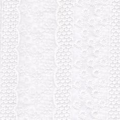 Broderie Anglaise - White Eyelet Design 17 - 100% Cotton Fabric Embroidered Dres
