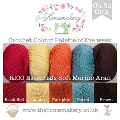 Crochet Colour Palette: Oh So Orla - The Homemakery Blog