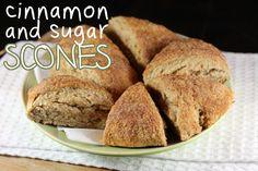 Cinnamon and Sugar Scones  {sooo good for breakfast - ks}