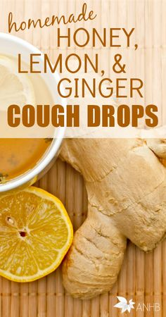 These homemade honey, lemon, and ginger cough drops are amazing!
