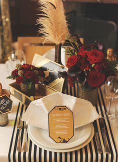 Speakeasy Wedding Table Decorations