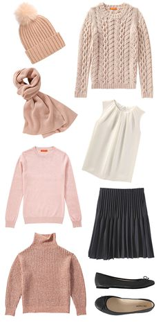 I always like to take a quick check in atJoe Freshand see what is new. Right now I am all about their cashmeresweaters and am leaning to all things blush. I picked a bunch of my current favor…