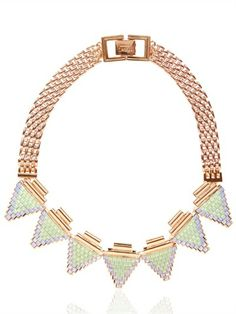 Mawi Deco Glam Triangle Necklace