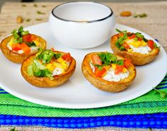You will love these loaded cottage cheese and veggies stuffed potato boats. They are simple yet impressive. These stuffed potato boats are filled with cottage cheese and topped with veggies which goes well for breakfast and simple lunch. #potatoboats