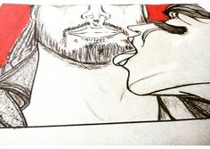 Vehemencia - #redmoon #serie \#sketch #final #amor #pasion #moon #parejas #sol #solyluna #drawn #drawing #ilustraciones #love #lovely #manoalzada #dibujo  #dibujosalapiz #art #artwork #preview @arcadiawall #illustration  #sansalvador  #elsalvador