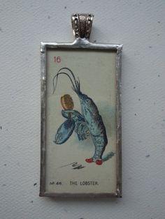 Vintage 1930 Alice in Wonderland Blue Lobster by OldeTowneJewelry, $60.00
