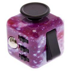 Purple Galaxy Stars Fidget Cube