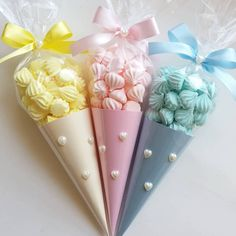 Unicorn Birthday Parties, Birthday Party Decorations, Baby Shower Decorations, Sweet Cones, Meringue Cookies, Chocolate Bouquet, Sugar Craft, Candy Bouquet, Ice Cream Party