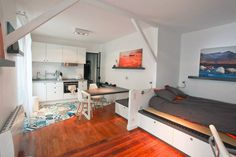 Living in a shoebox     This small Parisian Studio apartment is packed with great storage solutions