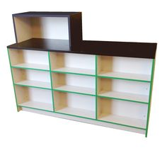 Convenience Shop counter - Retail shop counter available in a range of colours and wood finishes - Bespoke mde to measure our customers exact requirements. #shopcounter #retailshopcounter.