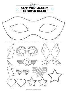 Mardi Gras 2019 Ideas PinWire: Original Mother's Day gift idea – Become a superhero or a … 29 mins ago – Theme Carnaval Masque Halloween Masque Clown Mask Template Christmas … Comic Hero Masks comic book heroes comic masks Superhero Party . Superhero Classroom Theme, Superhero Birthday Party, Superhero Photo Booth, Summer Camp Crafts, Camping Crafts, Superhero Mask Template, Diy With Kids, Masque Halloween, Super Heroine