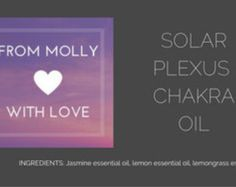 SOLAR PLEXUS CHAKRA OIL  Aromatherapy essential oil for use during meditation…