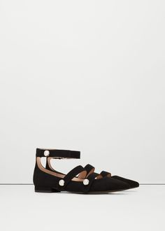 Pointed toe flat shoes - Shoes for Women | MANGO USA