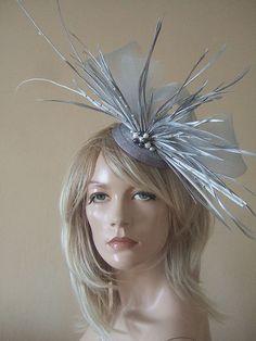 Silver and White Crinoline Ostrich Quills by Dress2Impress