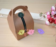 Free Shipping 10pcs/lot Kraft Paper Cake Packing Box Biscuit Box Gift Pack US $6.99