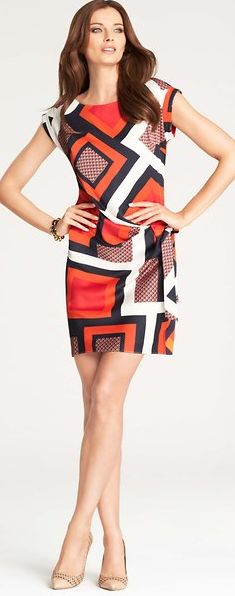 a flattering graphic print dress