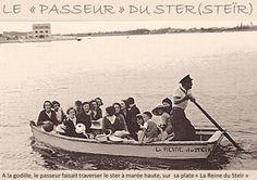 Il n'y a pas si longtemps, un ancien marin de Lesconil , assurait avec sa barque à fond plat dénommé « plate », le passage ente la petite digue du quartier des « Quatre- Vents » de Lesconil et le bourg des tartares de Loctudy. La « godille » était le moyen utilisé par le passeur pour faire avancer sa plate dans le courant du Ster.  le passeur de larvor  La « Reine de Larvor » est un cantique toujours chanté à l'église, en particulier lors des processions en l'honneur de Saint Quido