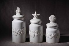 Continental Porcelain Canister lid starfish seashells ornaments ornaments decorated with soft assembly home furniture wholesale