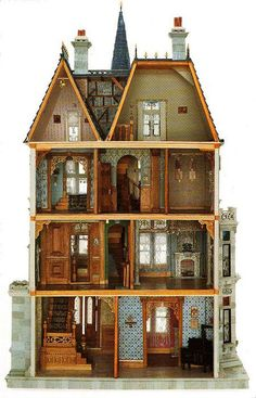 This Doll House built by Paul Cumbie in 1883, modeled exactly on the Vanderbilt mansion at 660 5th Ave, New York.