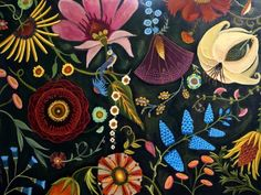 Positive Engery II My new botanical painting, painting by artist Catherine Nolin