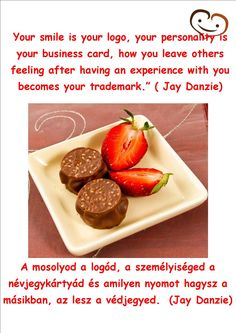 12. day - Handmade chocolate quotation #smilebrand #smilechocolate #mosolycsoki #quotations #smile #happiness #boldogság #csoki #csokoládé #quotes #handmade #twelfthday #jaydanzie #logo #trademark #businesscard #personality Handmade Chocolates, S Quote, Essie, Advent Calendar, Business Cards, Quotations, Personality, Strawberry, Happiness
