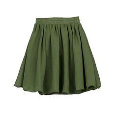 Chiffon Skater Skirt ($23) ❤ liked on Polyvore featuring skirts, mini skirts, bottoms, chicnova, saias, skater skirt, circle skirt, flared mini skirt, mini skirt and high-waisted skirt