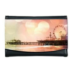 Sparkling Pink Pier Mini Wallet on CafePress.com