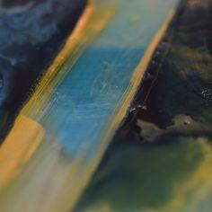 #paxos painting detail. Closeup.  #kent #folkestoneisanartschool  #greece #ioniansea #studio #workinprogress #paxoi #lakkapaxos #sea #greekislands #memories #elsewhere #other #spraypaint #oilpaint #lifecycles #journey  #Enamel #varnish #glue and #Perspex - #printing #Makingapainting  #art #contemporaryart #painting