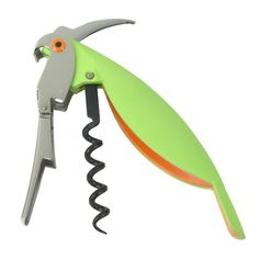 The Parrot Corkscrew, designed by ALESSANDRO MENDINI for Alessi, is a practical, pocket-sized tool