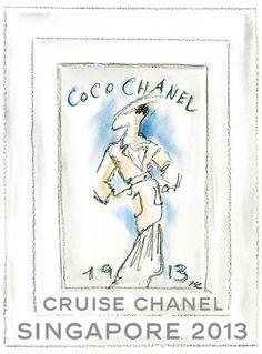 Chanel croisière défilé Singapour