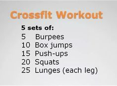 want to try crossfit? here's a crossfit workout you can do anywhere Wods Crossfit, Crossfit At Home, Gym Workouts, At Home Workouts, Workout Exercises, Beginner Crossfit Workouts, Workout Ideas, Cross Fit Workouts, Cross Training Workouts