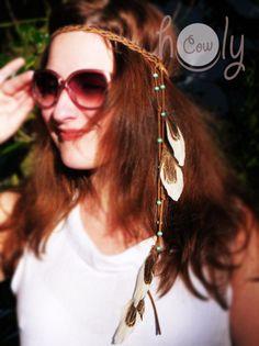 Diese schöne handgemachte Hippie-Stirnband ist aus Leder und schönen Federn gefertigt. Es ist für jeden Anlass perfekt vor allem Parteien und Festivals. Alle Kopfgrößen passt.