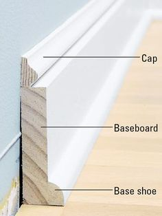 Baseboards - How to Install Baseboard Molding - Carpentry, Woodworking, Finish & Trim. DIY AdviceInstalling Baseboards - How to Install Baseboard Molding - Carpentry, Woodworking, Finish & Trim. Home Improvement Projects, Home Projects, Home Improvements, Home Renovation, Home Remodeling, Kitchen Remodeling, How To Install Baseboards, Modern Baseboards, Dark Baseboards