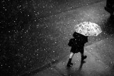 black and white rain