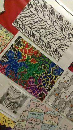 Tesselations Mc Esher middle school art