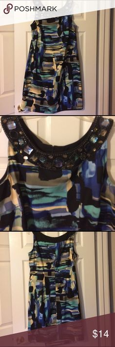 Dress Barn dress In good condition except for 2 of the beads are coming loose, fixable if you know how to sew them back on. Not noticeable when wearing. Reflected in the price Dress Barn Dresses Midi