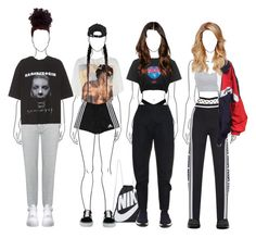 """""""Set 842 -"""" by xjulie99 ❤ liked on Polyvore featuring Zimmermann, Moschino, NIKE, adidas, Brave Soul, Vetements, Vans, Balenciaga and Puma"""