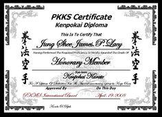 64 Best Martial Arts Certificates images in 2019