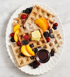 Whole wheat vegan waffles