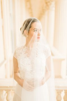 Rose Garden Stunning Veiled Bride - #JulieMichaelsenPhotography Styled by Glimmer and Threads Floral design by Jay Archer Dress by Ivy & Aster from Heart Aflutter Bridal Jewels by Bear Brooksbank Hair and make by Kylie McMichael Model is Sylvia Sparkles