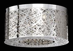 12 round cascading crystal flush semi flush fixtures 16 laser cut flush mount with flush semi flush fixtures aloadofball Image collections