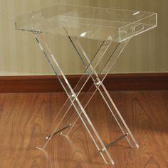 FLDNG ACRYLIC TABLE 19X23
