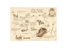 Vintage Illustrated Map Invitation by Appleberry Press Unique Wedding Invitations, Wedding Stationery, Map Invitation, Illustrated Maps, Bespoke, Vintage World Maps, Illustration, Cards, Taylormade