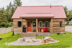 Lester Buildings Pole Barn/Post Frame Montana Log Cabin Home. #cabin #postframe #polebarn #mountains #rustic #logcabin #design #exteriordesign