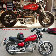 View several of my favorite builds - specialty scrambler concepts like this Virago Cafe Racer, Yamaha Cafe Racer, Yamaha Virago, Honda Cb750, Dominator Scrambler, Cafe Racer Helmet, Cafe Bike, Cafe Racer Motorcycle, Motorcycle Design