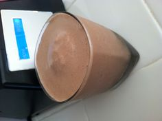 Better-than-ice-cream Protein Shake! In my Blendtec : 1/2 cup of coconut milk, 1/2 banana 1 scoop of whey protein powder, 1 tbsp peanut butter, 1tbsp cocoa powder, 1 tbsp honey and 1 1/2 cups of ice