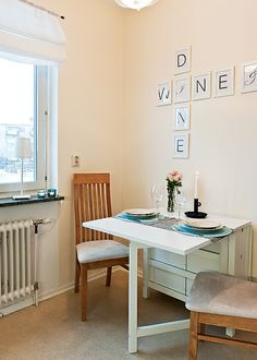 5 ways to create small space dining areas pinterest white dining ikea norden dining table got this table it folds up both leaves and theres storage in the middle watchthetrailerfo
